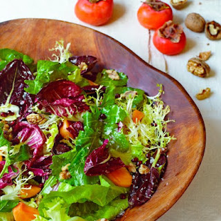 Mixed Chicories with Persimmons