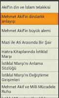 Screenshot of Mehmet Akif Ersoy Şiirleri