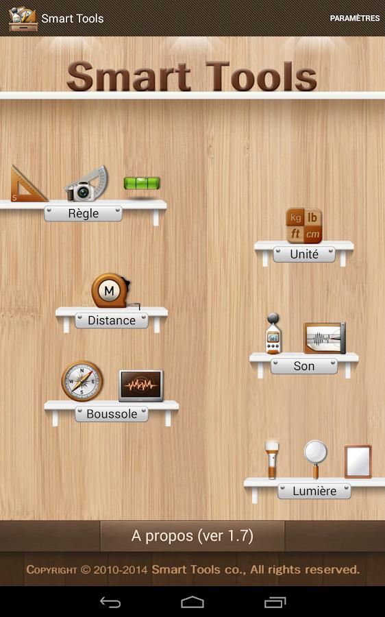 Smart Tools - boîte à outils - screenshot
