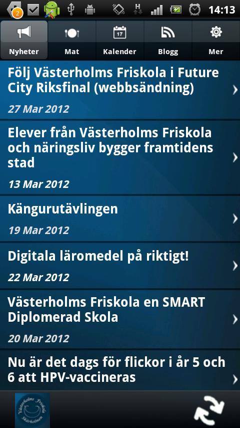Västerholm skolan - screenshot