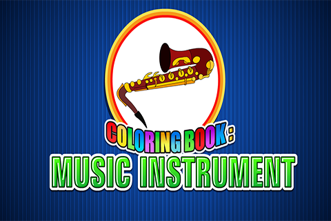 Coloring Book Music Instrument