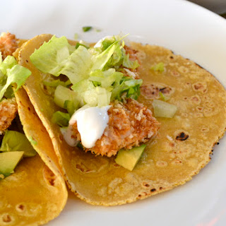 Baked Mahi Mahi Tacos w/ Lime Crema