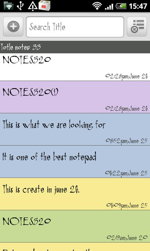 SE Notepad- screenshot