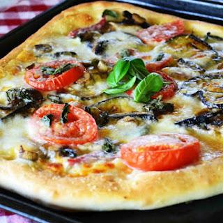 Eggplant-Mushroom Pizza