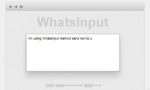 WhatsInput v1.0