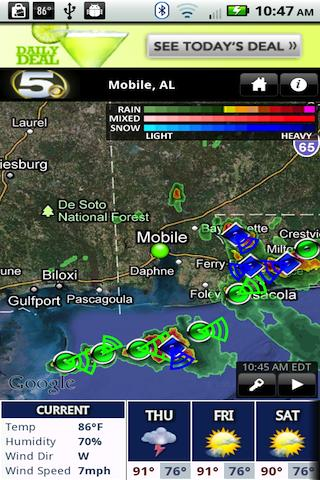 WKRG Radar - screenshot