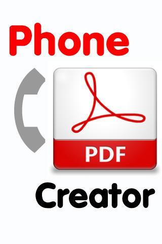 Phone PDF Creator