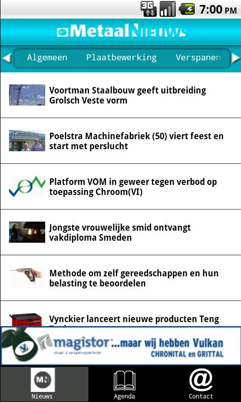 MetaalNieuws - screenshot