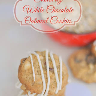 White Chocolate Cranberry Oatmeal Cookies.