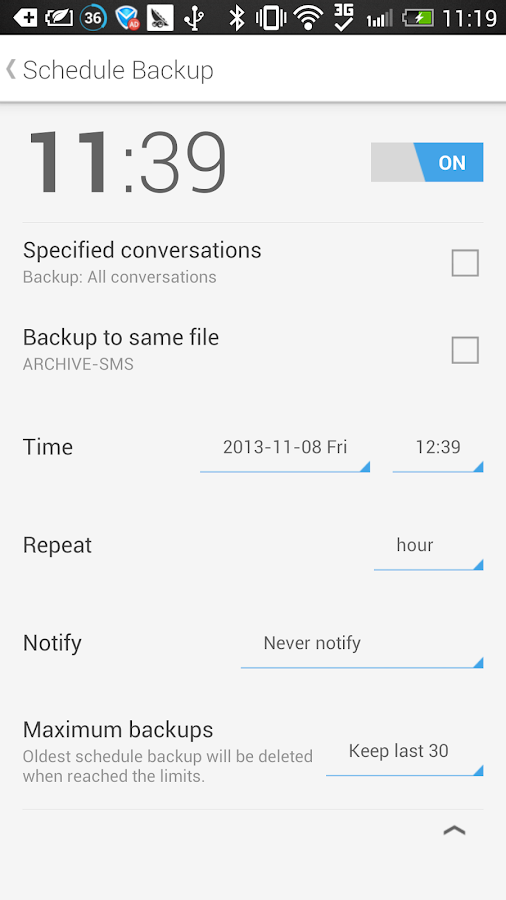 SMS Backup & Restore (Kitkat) - screenshot