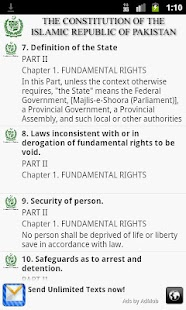 Constitution Of Pakistan- screenshot thumbnail