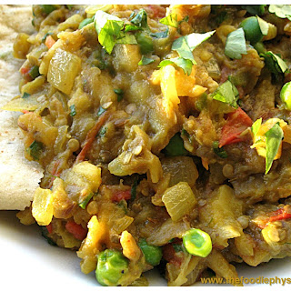 Indian Spiced Eggplant (Baingan Bharta).