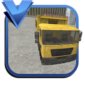 Tipper dump truck duty driving icon
