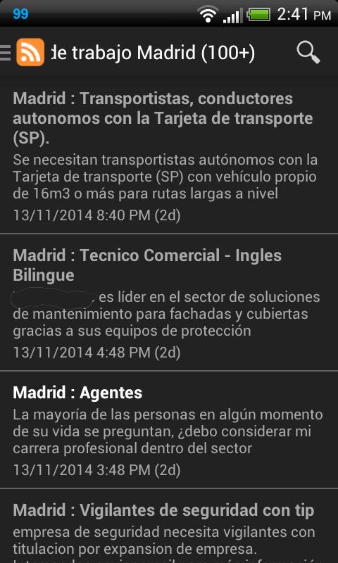 Madrid ofertas de trabajo android apps on google play - Trabajo de jardinero en madrid ...