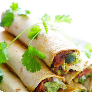 5-Ingredient Chicken Guacamole Taquitos