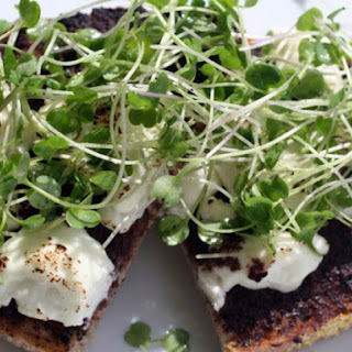 Tapenade and Warm Goat Cheese Tartines