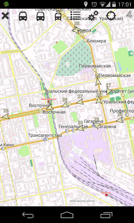 Yekaterinburg Public Transport - screenshot