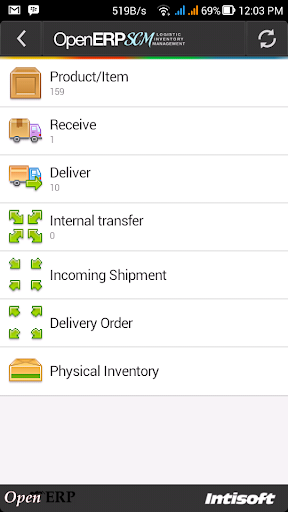 OpenERP SCM Inventory alpha