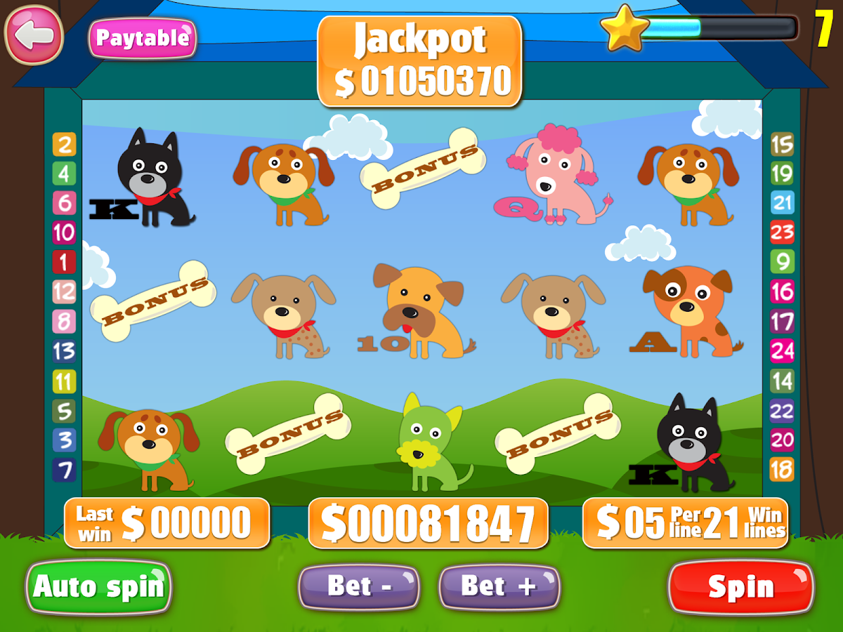 Lucky puppy slots