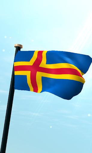 奧蘭群島旗3D免費動態桌布
