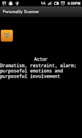 Screenshot of Personality Scanner
