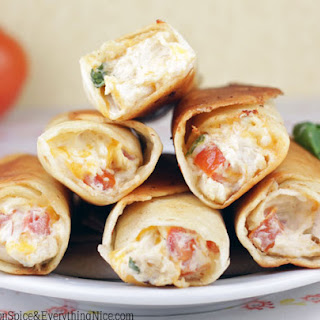 Chubby Chicken and Cream Cheese Taquitos