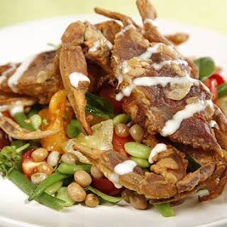 Crispy Soft-Shelled Crabs with Bean Salad.