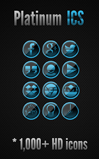 Icon Pack - Platinum ICS - screenshot thumbnail