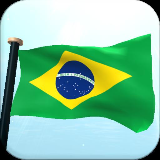Brazil Flag 3D Free Wallpaper