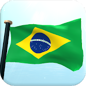Brazil Flag 3D Free Wallpaper
