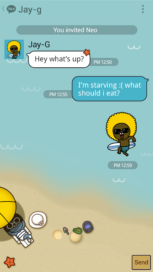SUMMER STORY - KAKAOTALK THEME- screenshot