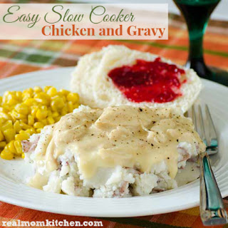 Easy Slow Cooker Chicken and Gravy.