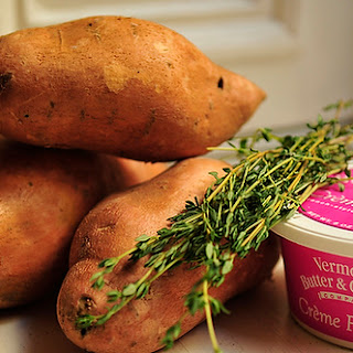 Mashed Sweet Potatoes with CrèMe FraîChe and Herbs Recipe