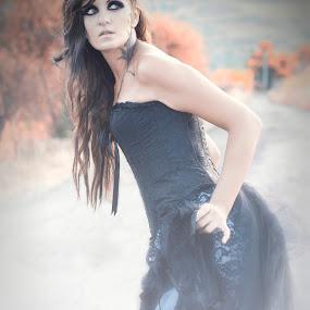 Monica  by Alessandra  Romano  - People Portraits of Women ( girl, gothic, autumn, woman, beautiful, dark, pixoto, fairy, flare, nikon, photo, black )