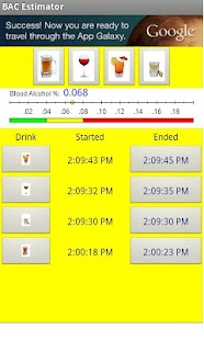Blood Alcohol Estimator - screenshot thumbnail
