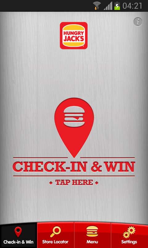 Hungry Jack's® Shake & Win App- screenshot