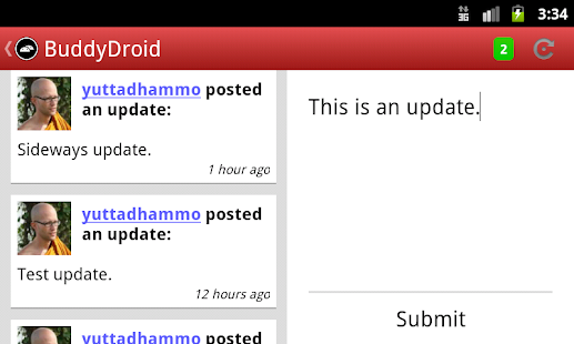 BuddyDroid - screenshot thumbnail