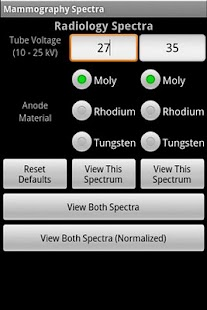 Mammography Spectra - screenshot thumbnail