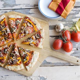 Gluten Free Summer Veggie Pizza.