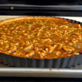 Grand Marnier Orange Walnut Tart