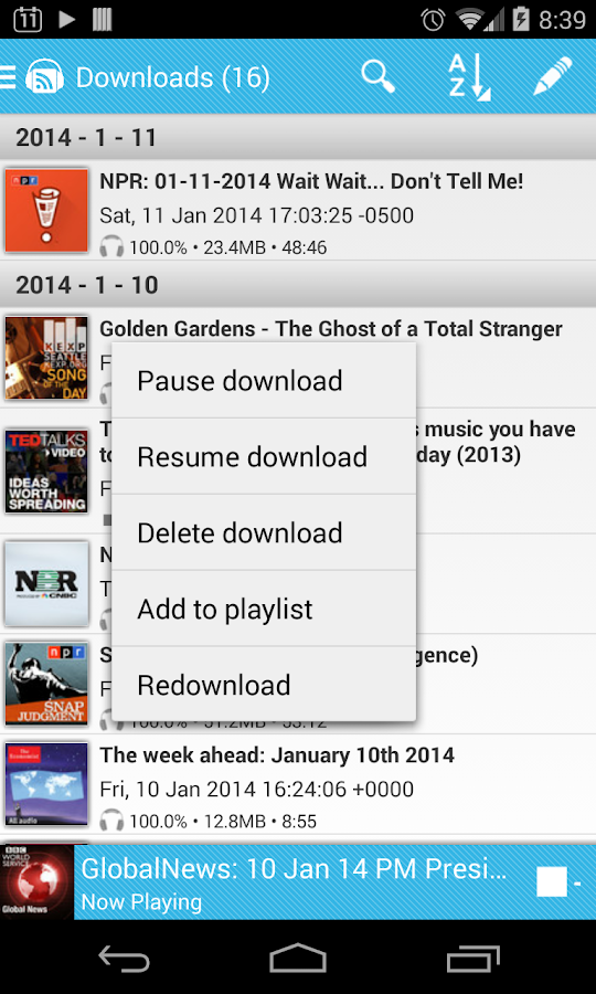 iPP Podcast Player - screenshot
