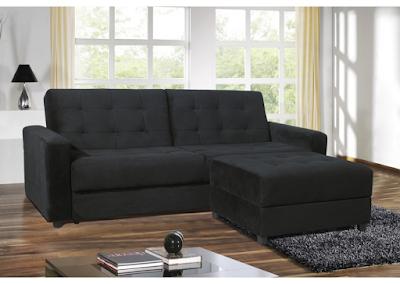 acheter canap angle convertible microfibre noire softly marseille chez envie de meubles dilengo. Black Bedroom Furniture Sets. Home Design Ideas