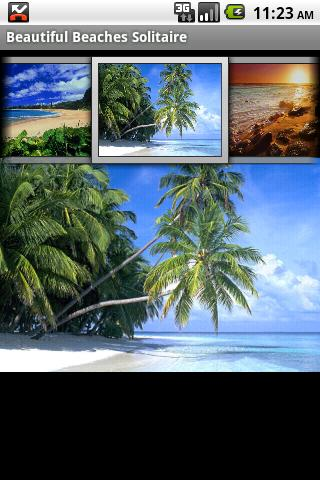 Beautiful Beaches Solitaire - screenshot