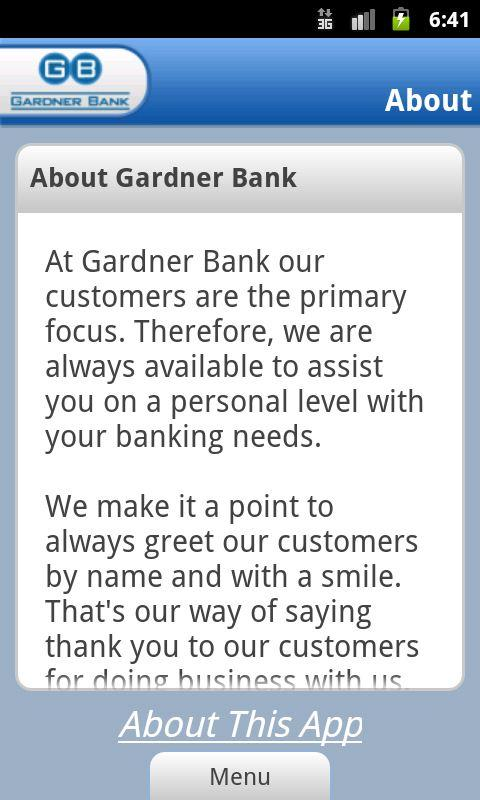 Gardner Bank - screenshot
