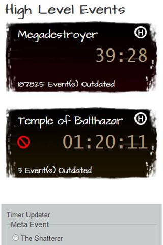 Guild Wars Temple Dragon Timer - screenshot