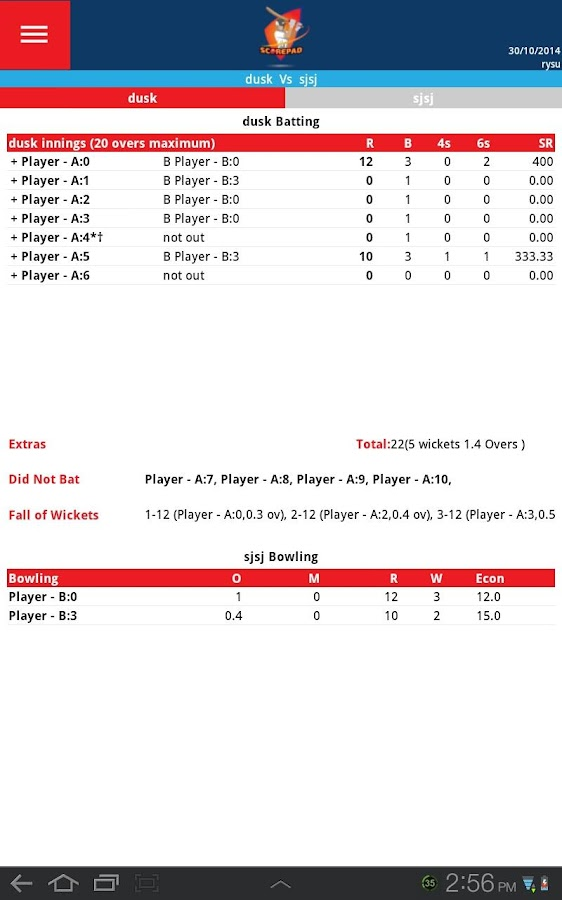 Cricket Score Pad - Android Apps On Google Play