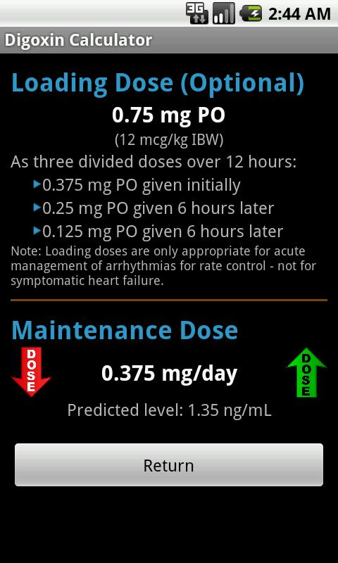 Digoxin Calculator- screenshot