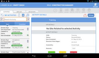 Screenshot of EAMS (Ericsson NBSS)