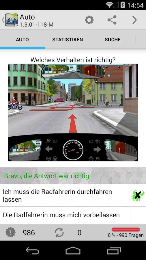 Auto - Führerschein, Klasse B - screenshot