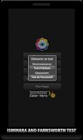 Screenshot of Color Blindness test Ishihara